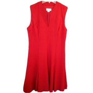 NWT 14 Jessica Simpson Red Sleeveless Midi Dress